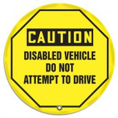 - OSHA Caution Steering Wheel Message Cover: Disabled Vehicle Do Not Attempt To Drive