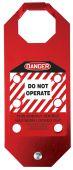 - STOPOUT® OSHA Danger Aluma-Tag™ Hasps: Do Not Operate