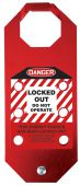 - STOPOUT® OSHA Danger Aluma-Tag™ Hasps: Locked Out Do Not Operate