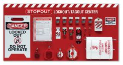 - 6-Padlock STOPOUT® Standard Lockout Centers - Combo Kit