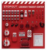 - 12-Padlock STOPOUT® Deluxe Lockout Centers - Combo Kit