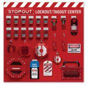 - 12-Padlock STOPOUT® Group Lockout Centers - Combo Kit