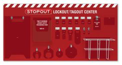- 6-Padlock STOPOUT® Standard Lockout Center - Board Only