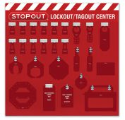 - 12-Padlock STOPOUT® Group Lockout Centers - Board Only