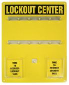 - Lockout Center Aluminum Hanger Boards: 12-Padlock Board