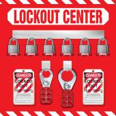 - 6-Padlock Lockout Store-Board™