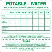 - Potable Water Cooler Label