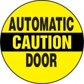 - Caution Safety Label: Automatic Door