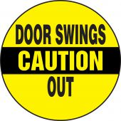 - Caution Safety Label: Door Swings Out
