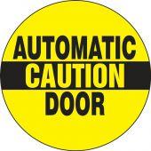 - Double-Sided Door Stickers: Caution - Automatic Door