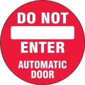 - Double-Sided Door Stickers: Do Not Enter - Automatic Door