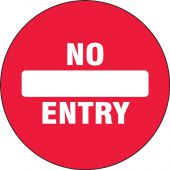 - Double-Sided Door Stickers: No Entry - Exit Only