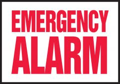 - Safety Label: Emergency Alarm