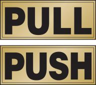 - Safety Label: Pull/Push (Horizontal)