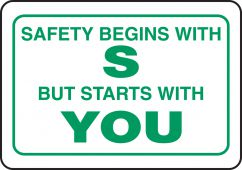 - Funny Labels: Safety Begins With S But Starts With YOU