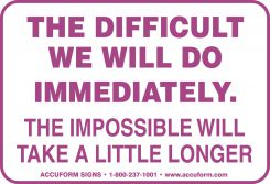 - Funny Labels: The Difficult, The Impossible