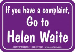 - Funny Labels: If You Have A Complaint, Go To Helen Waite