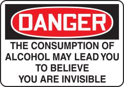 - Funny Labels: Alcohol May Lead You To Believe You Are Invisible