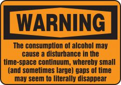 - Funny Labels: Alcohol, Time-Space Continuum