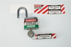 - Padlock And Key ID Label Set