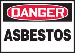 - OSHA Danger Safety Label: Asbestos