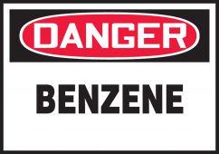 - OSHA Danger Safety Label: Benzene