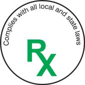 - Cannabis Prescription Label: Complies With All Local And State Laws - RX