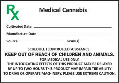 - Safety Label: Medical Cannabis (with gram weight indication)