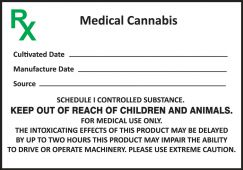 - Safety Label: Medical Cannabis