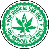 - Cannabis Prescription Label: For Medical Use Only