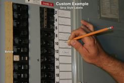 - Custom Safety Label Circuit Breaker Label