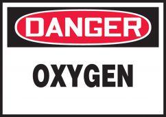 - OSHA Danger Safety Label: Oxygen