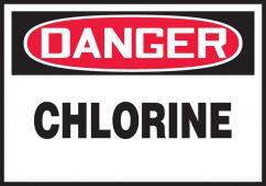 - OSHA Danger Safety Label: Chlorine