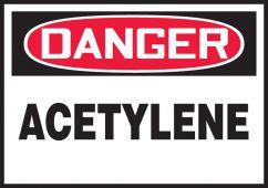 - OSHA Danger Safety Label: Acetylene