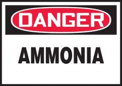 - OSHA Danger Safety Label: Ammonia