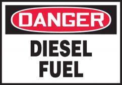 - OSHA Danger Safety Label: Diesel Fuel