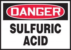 - OSHA Danger Safety Label: Sulfuric Acid