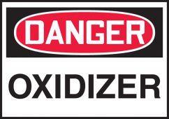 - OSHA Danger Safety Label: Oxidizer