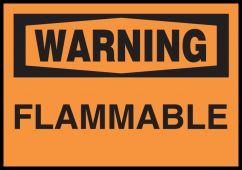 - OSHA Warning Safety Label: Flammable