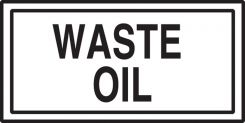 - Safety Label: Waste Oil