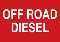 - Safety Label: Off Road Diesel