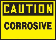 - OSHA Caution Safety Label: Corrosive