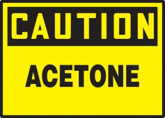 - OSHA Caution Safety Label: Acetone