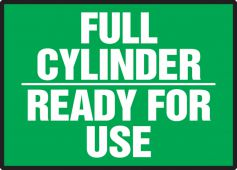 - Chemical & Hazardous Material Label: Full Cylinder - Ready For Use