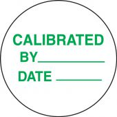 - Preprinted Inventory Marking Dots: Calibrated By _ - Date _