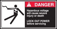 - ANSI Danger CEMA Label: Hazardous Voltage Will Cause Severe Injury Or Death