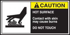 - ANSI Caution CEMA Label: Hot Surface - Do Not Touch