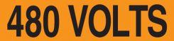 - Conduit Labels Voltage Markers: 480 Volts