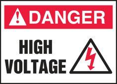 - ANSI Danger Electrical Safety Label: High Voltage