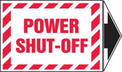 - Safety Label: Power Shut-Off With Arrow